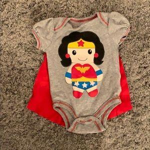 WonderWoman cape onesie